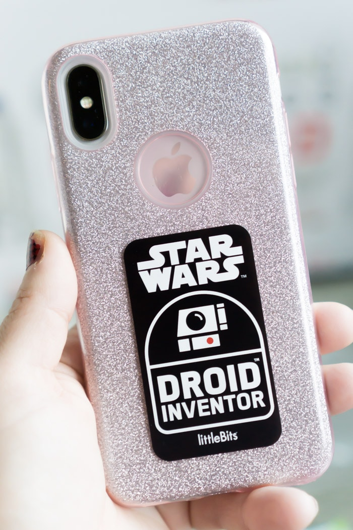 Cool stickers are included with the littleBits Star Wars kit
