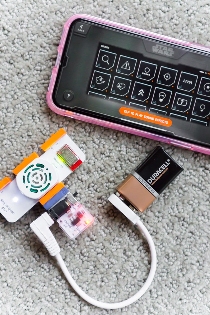 Put together your littleBits first then the droid part