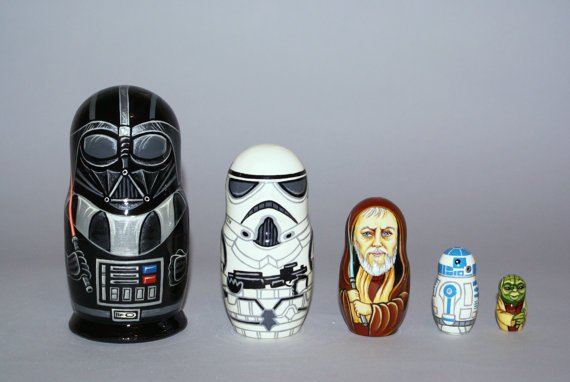 Cutest Star Wars Nesting Dolls Ever