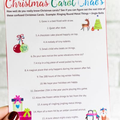 7 Tips for Hosting the Best Christmas Party Ever & Christmas Carol Game
