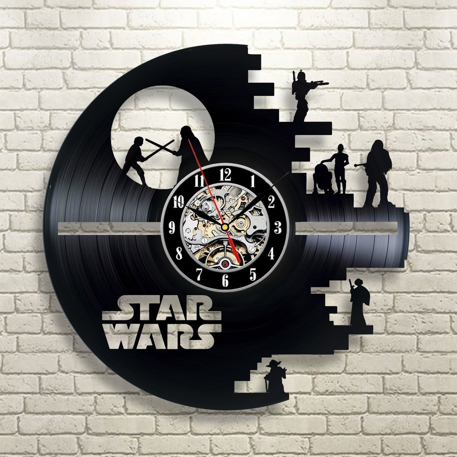 This vinyl wall clock is the one of the coolest Star Wars gifts
