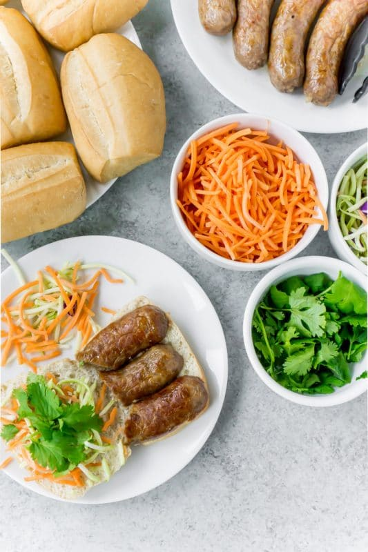 Create a banh mi bar for fresh sandwiches all week long