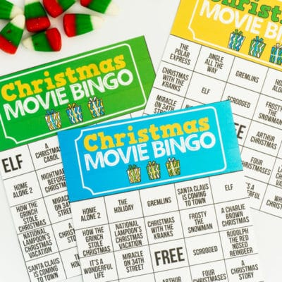 Free Printable Holiday Movie Christmas Bingo Cards