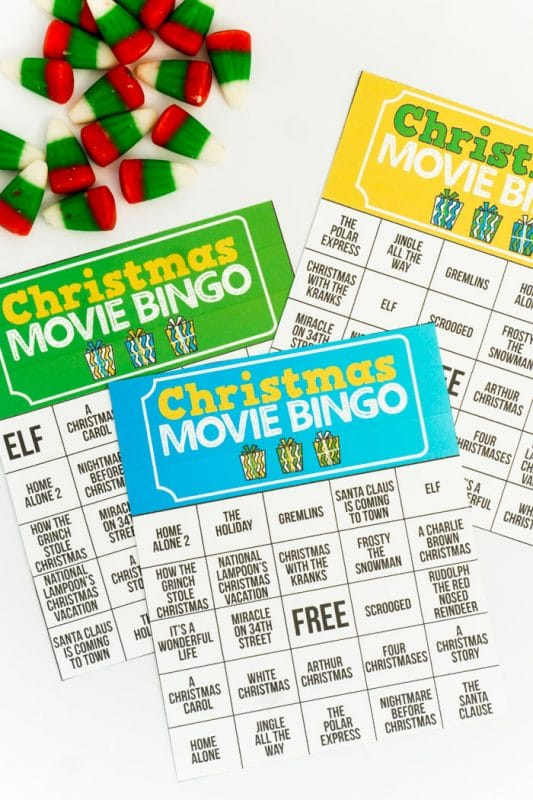 image regarding Holiday Bingo Printable titled Totally free Printable Trip Video clip Xmas Bingo Playing cards - Perform