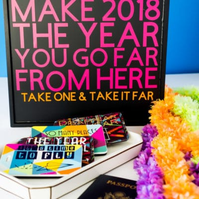 Easy New Year's Eve Favors: DIY Luggage Tags Made with Cricut & Cricut Maker Giveaway