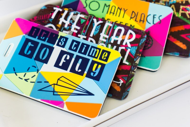The cutest DIY luggage tags make great gifts