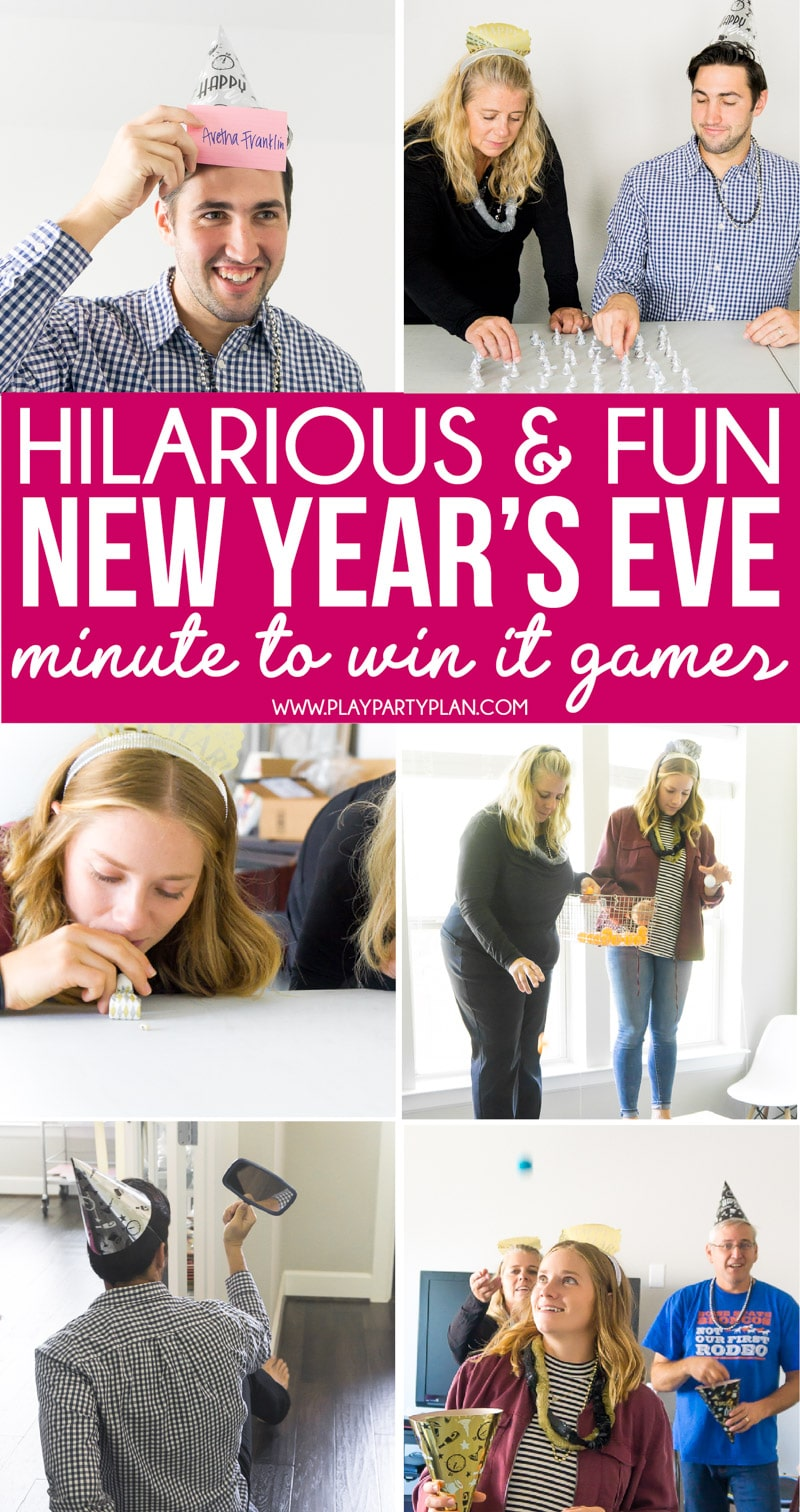 Fun New Year's Eve games for adults and kids! Great ideas and the ultimate list of awesome games and activities both children and parents can play together! via @playpartyplan
