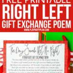A printable right left Christmas poem
