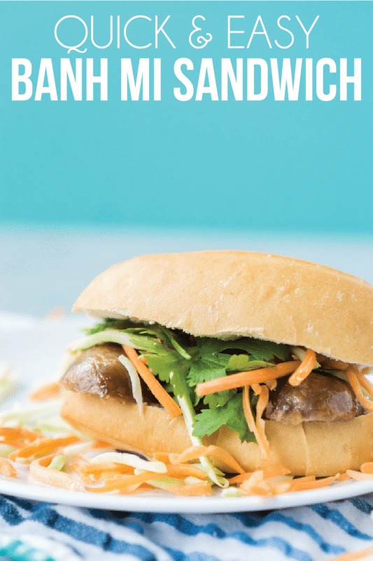 A simple banh mi recipe using Johnsonville Sausage