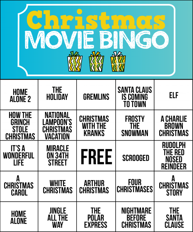 Fan image with holiday bingo printable