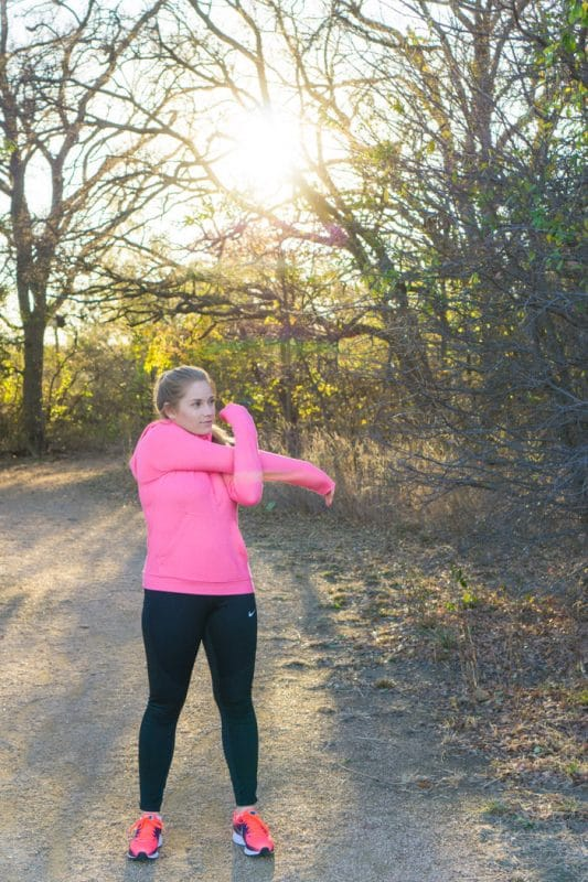 Running leggings are perfect for stretching after a good run