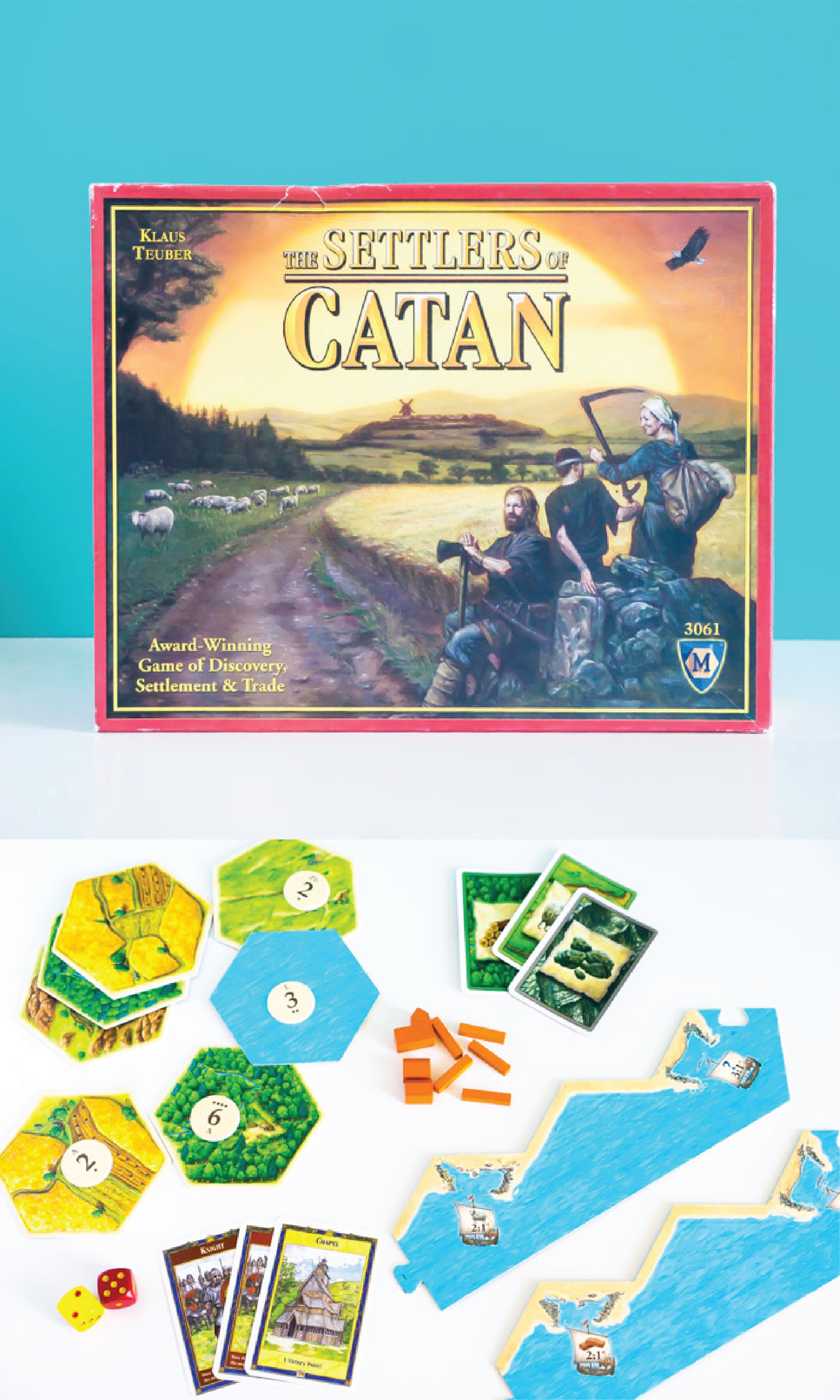 The Settlers of Catan board game is a classic