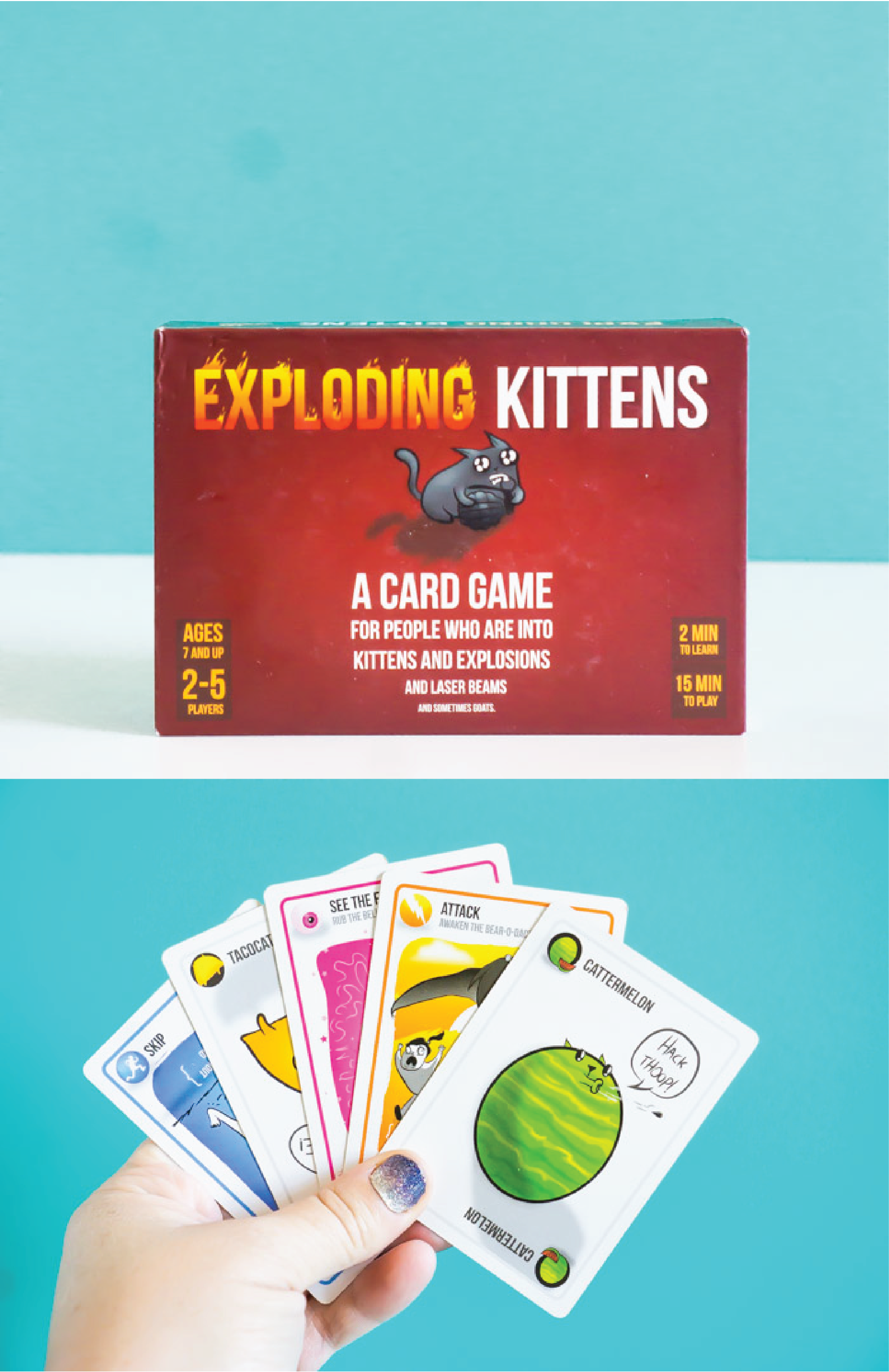 Exploding Kittens is one of the most fast-paced board games for adults