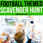 This football themed scavenger hunt would be perfect for a football birthday party or if you're looking for Super Bowl party ideas for kids! It's a free printable that's simple but one of the most fun games for kids out there! All of our kids loved it!!!