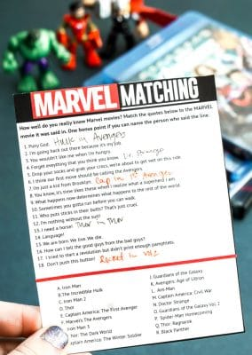 Try out this MARVEL matching game