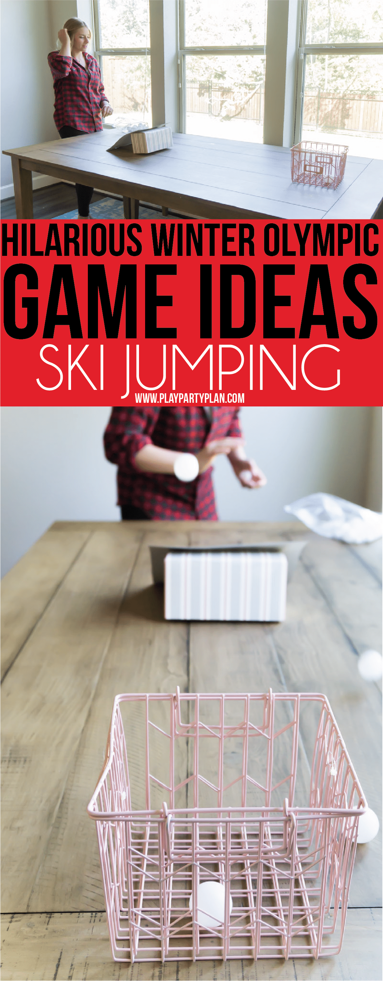 Olympic themed party games inspired by Winter Olympic sports