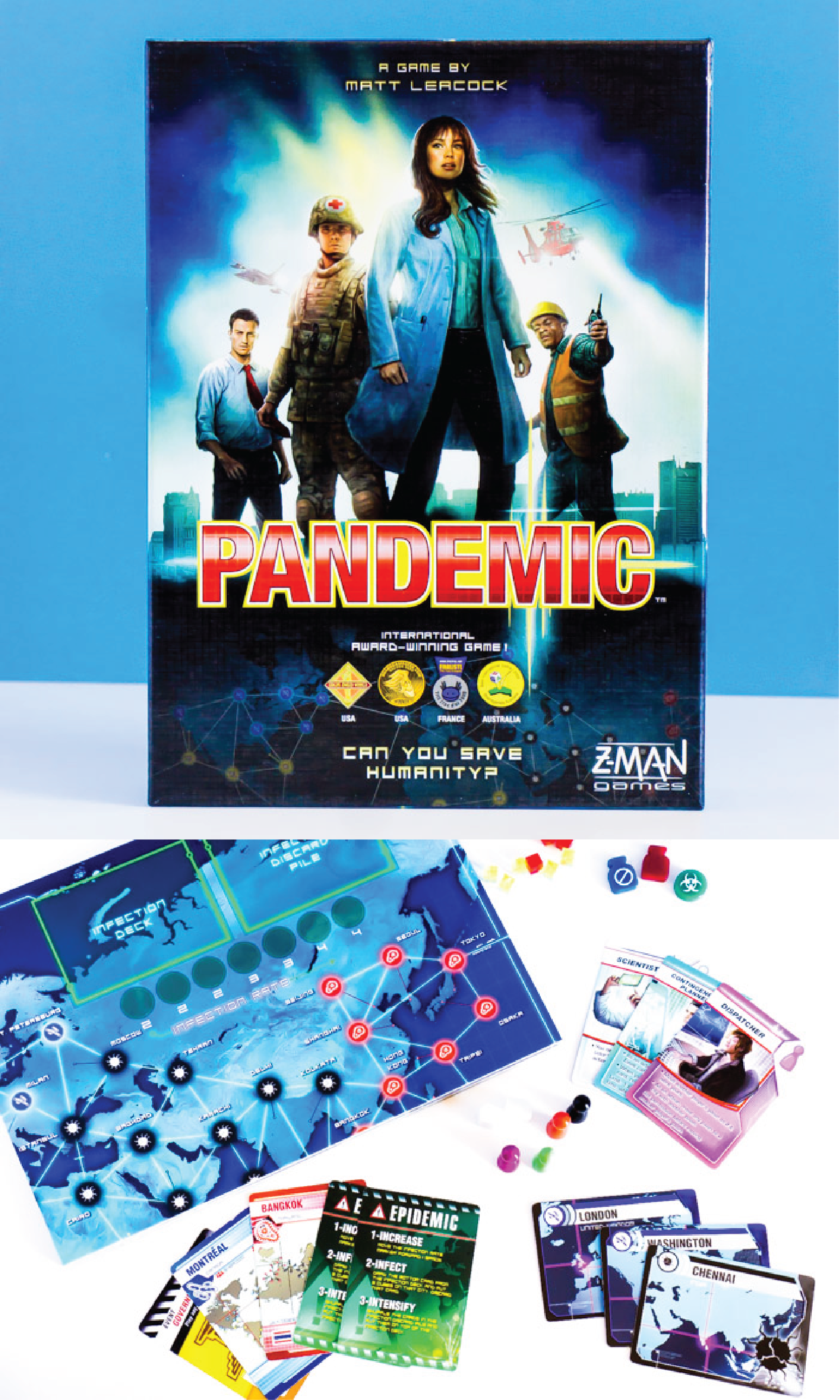 The Pandemic board game is one of the best adult board games ever