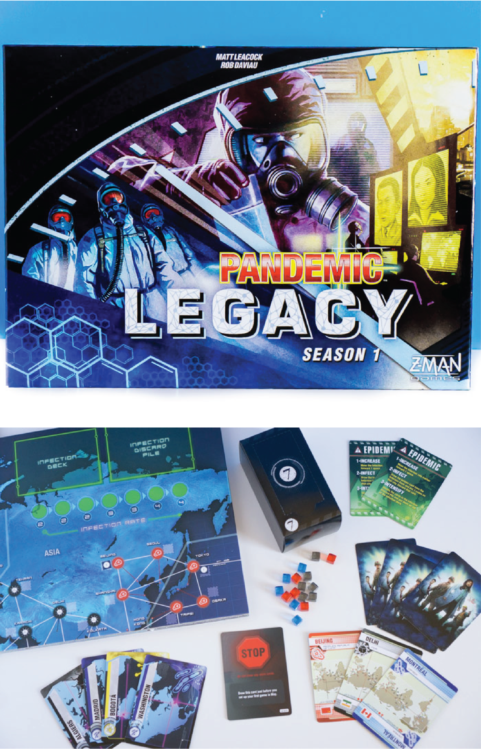 This legacy pandemic board game is designed to play for a year