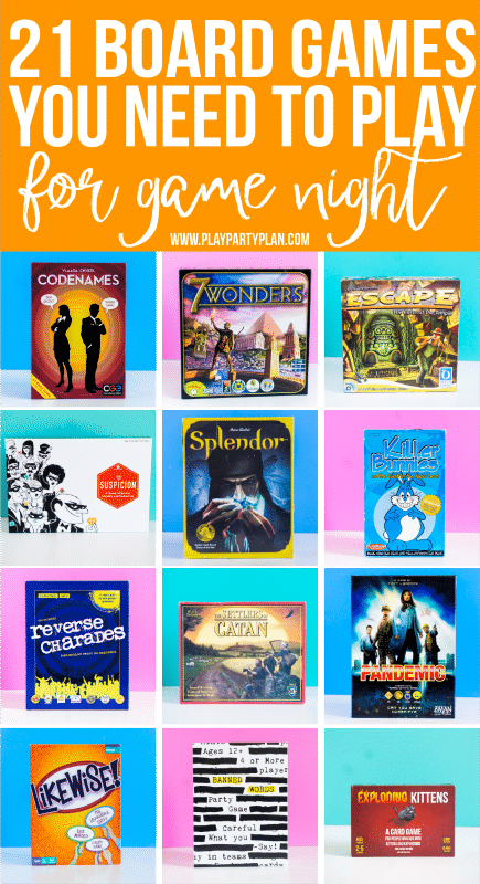 The best board games for adults or for teens! Setup a game night or a party and play these amazing board games - everything from classic games to strategy games you've probably never heard of! And even a bunch of board games that work for couples or for two players!