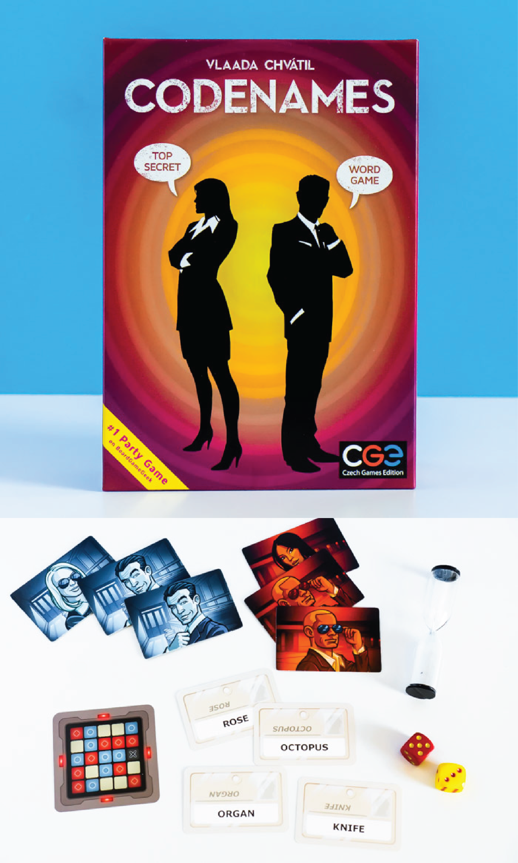 Codenames is one of the most popular mystery adult board games
