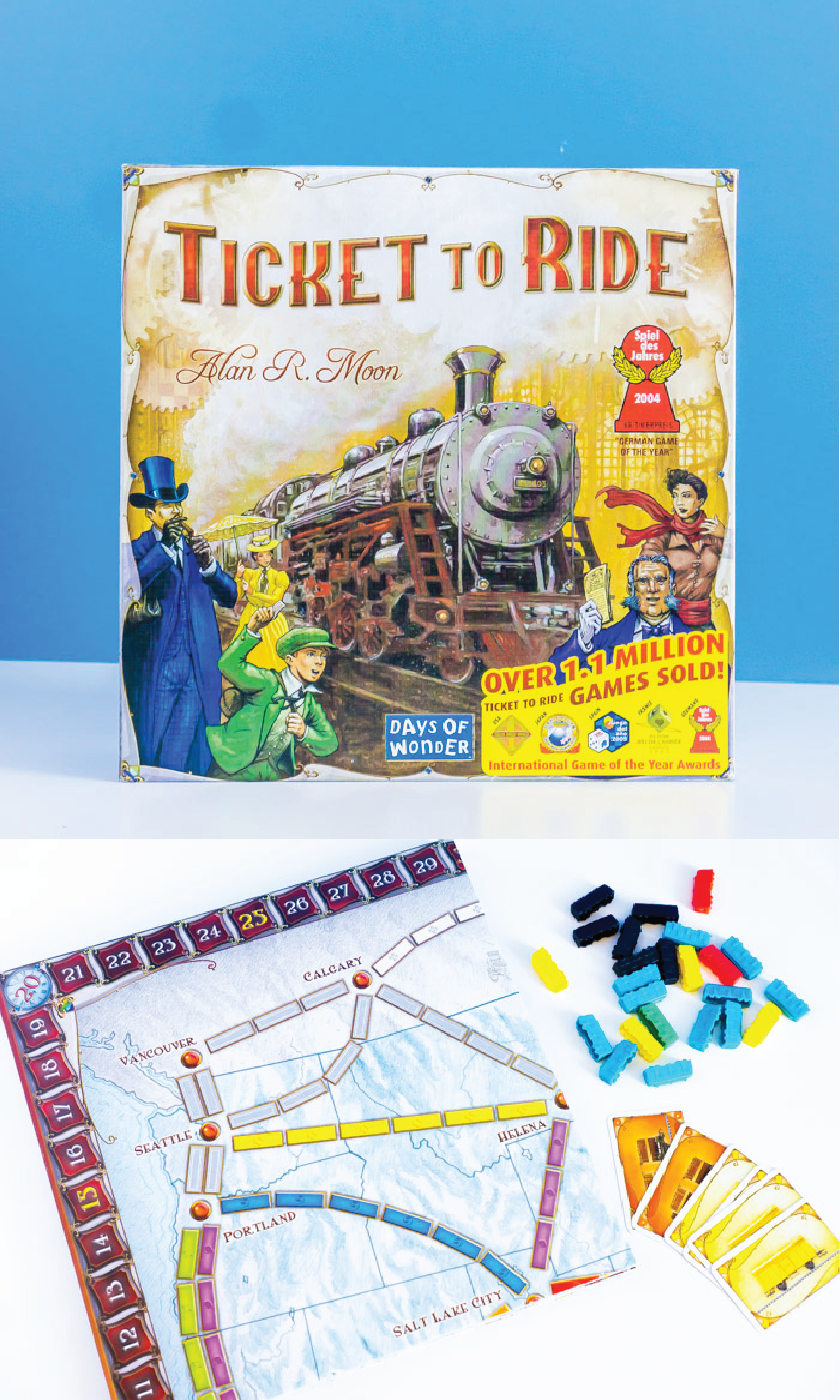 The Ticket to Ride board game is a popular one