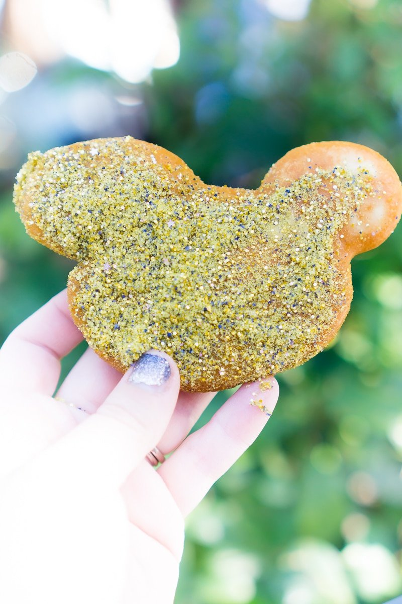 Disneyland offers seasonal beignets like Mardi Gras and pumpkin