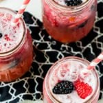 Top this berry mocktail with fresh berries