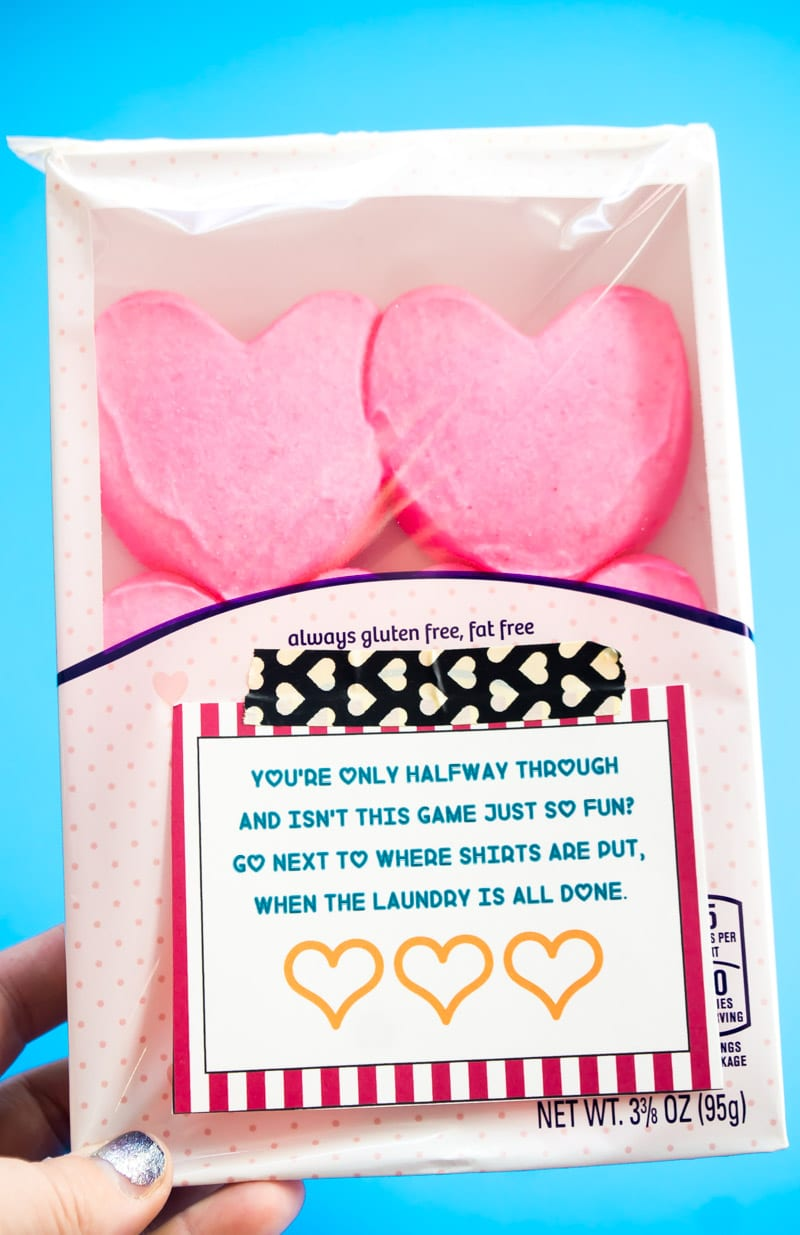 A free printable Valentine's Day hunt for kids