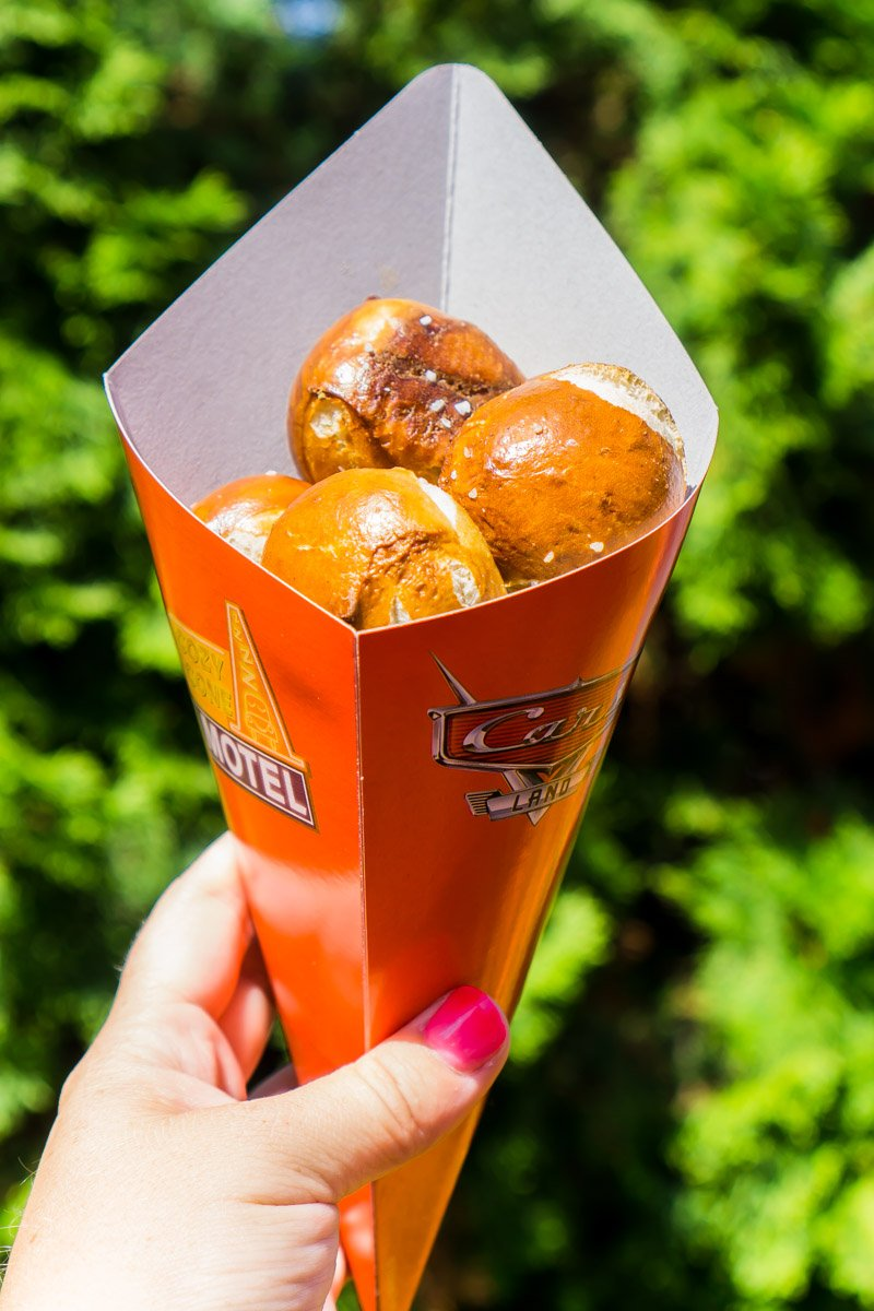 Pretzel bites are one of the best things to eat Disneyland