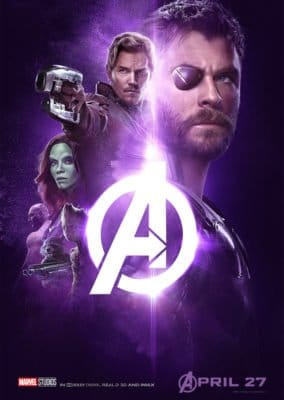 New Avengers Infinity War poster featuring Thor