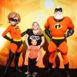 A picture of a family with Mr. and Mrs. Incredible in this Incredibles 2 movie review