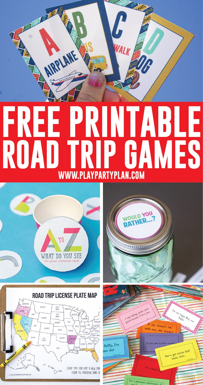The best list of printable road trip games and road trip ideas for kids! Everything from road trip bingo to road trip scavenger hunts and more!