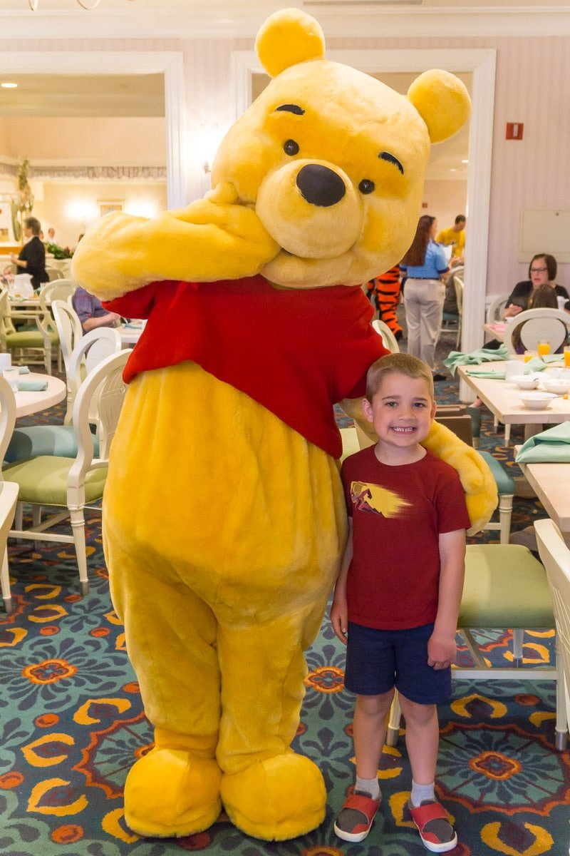 Winnie the Pooh at 1900 Park Fare Disney character dining