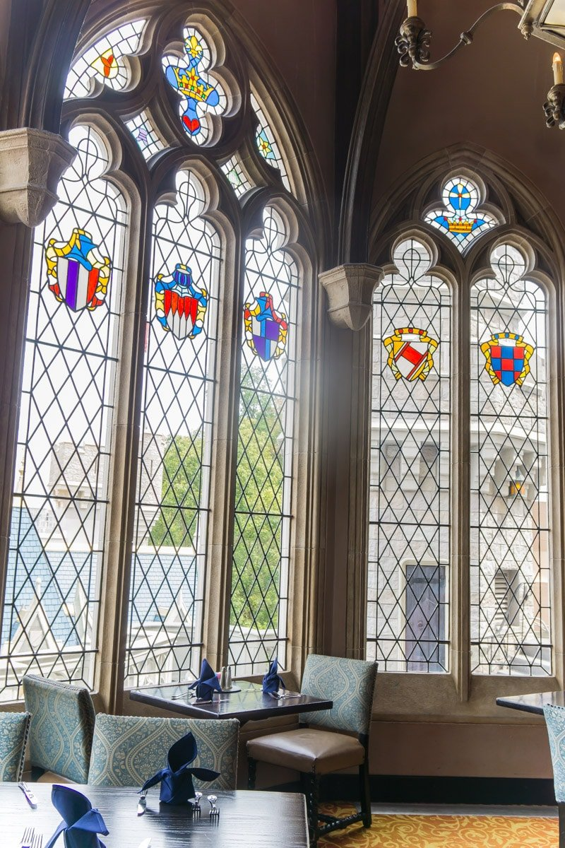 Windows from inside Cinderella's Royal Table
