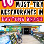 Collage of food from Daytona Beach restaurants for Pinterest