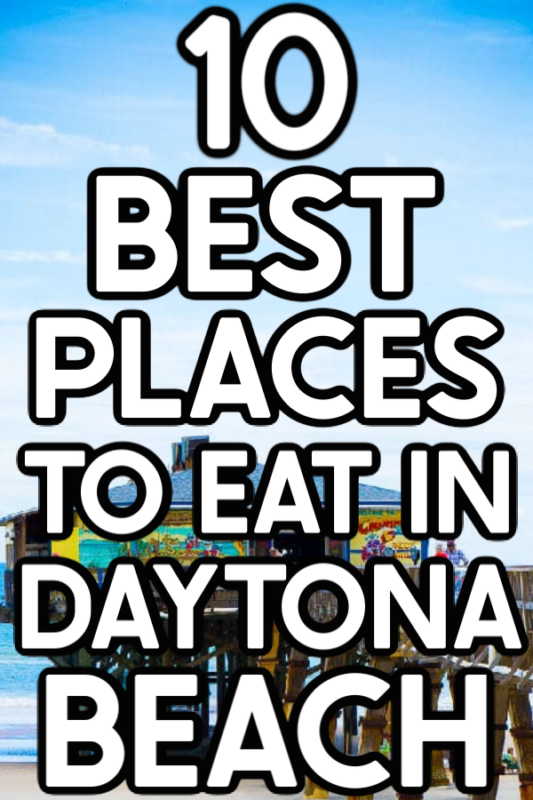 Daytona Beach restaurant with text for Pinterest