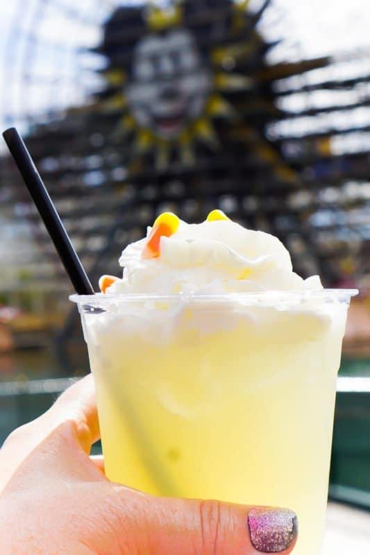 Popcorn lemonade at the Disneyland Food and Wine Festival