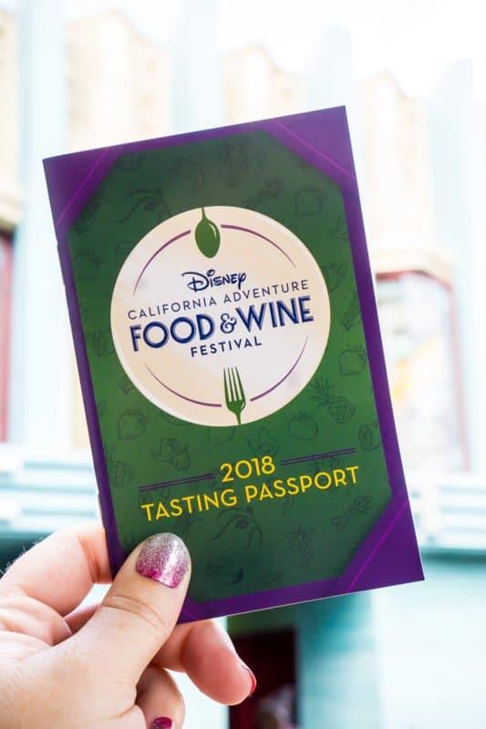 Disneyland Food and Wine Festival Tasting Passport