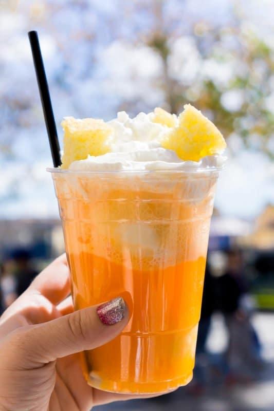 Orange cream float at the Disneyland Food and Wine Festival
