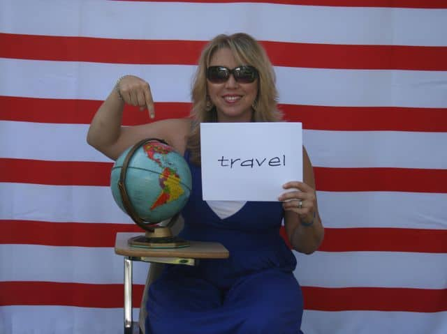 Travel photo booth