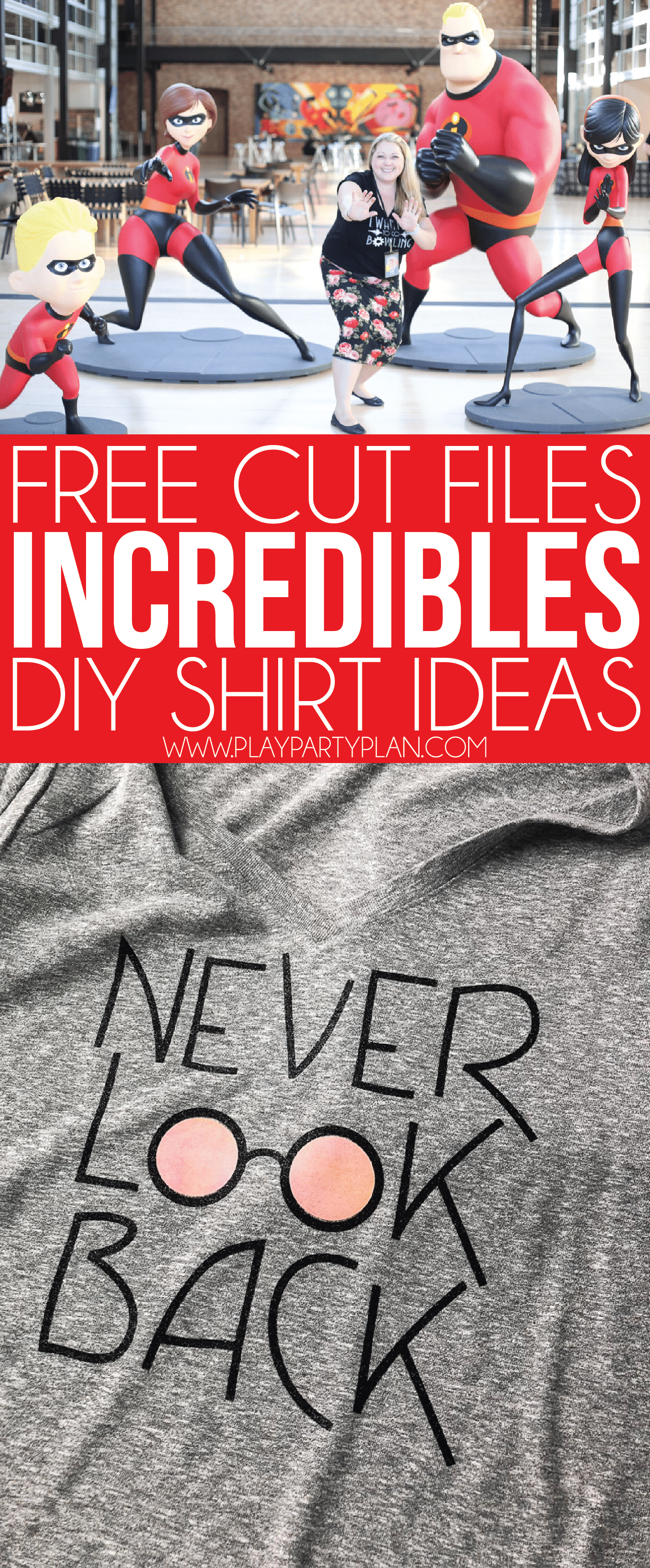 DIY Disney Incredibles shirt ideas! Awesome tees inspired by Edna, Frozone, and the Incredibles movie in general! These ideas would be perfect on workout tanks, long sleeve shirts, or just an outfit to wear to Disney!