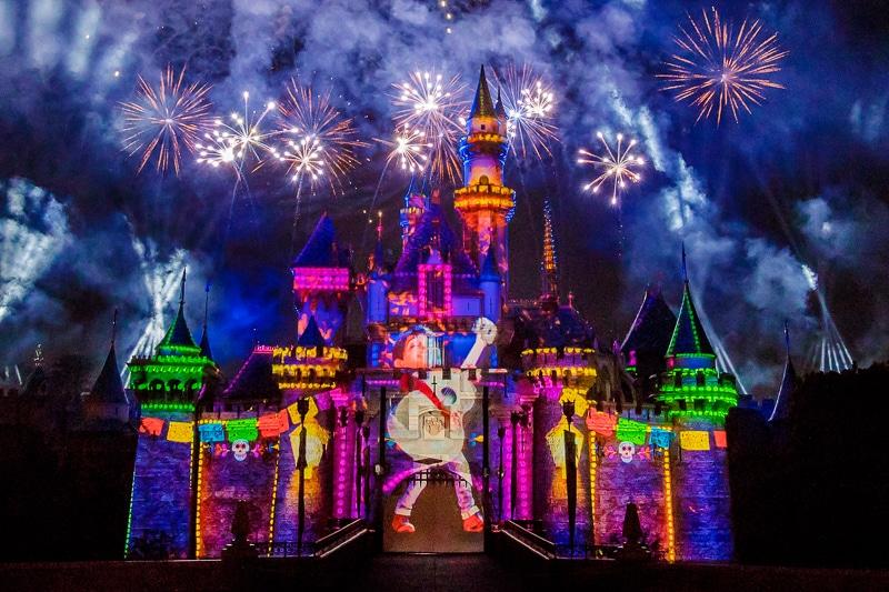 Pixar Fireworks during Disneyland's Pixar Fest