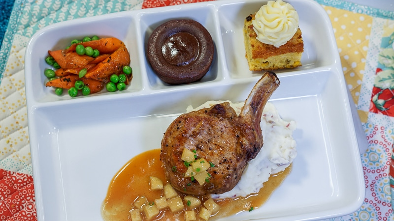 Up inspired pork chop TV dinner at Disneyland's Pixar Fest
