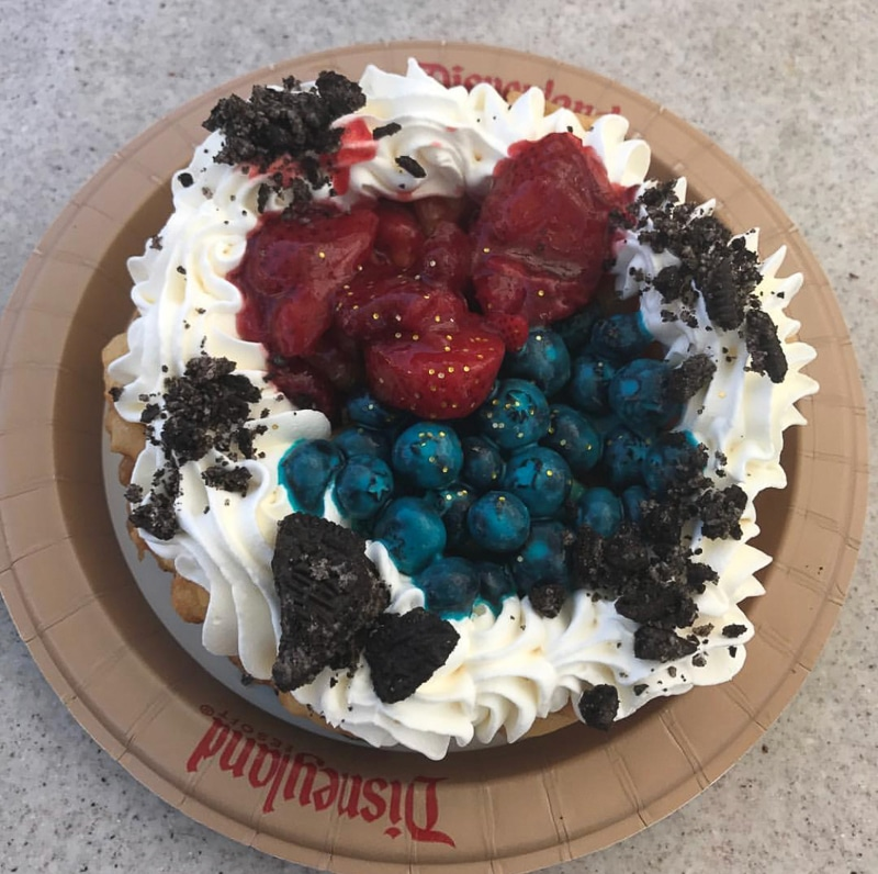 Jessie's Berry Funnel Cake at Disneyland Pixar Fest
