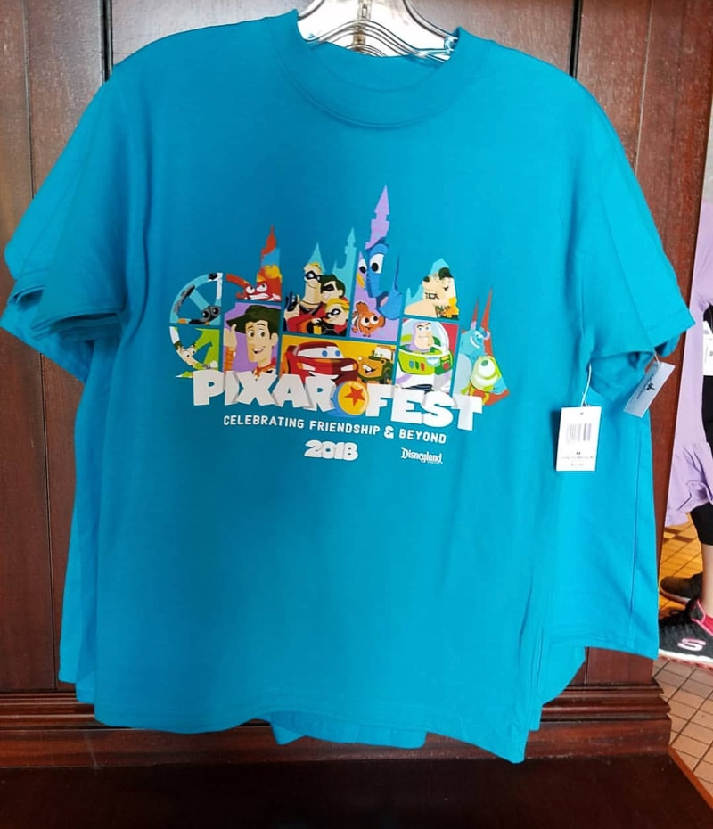 Pixar castle shirt at Disneyland's Pixar Fest