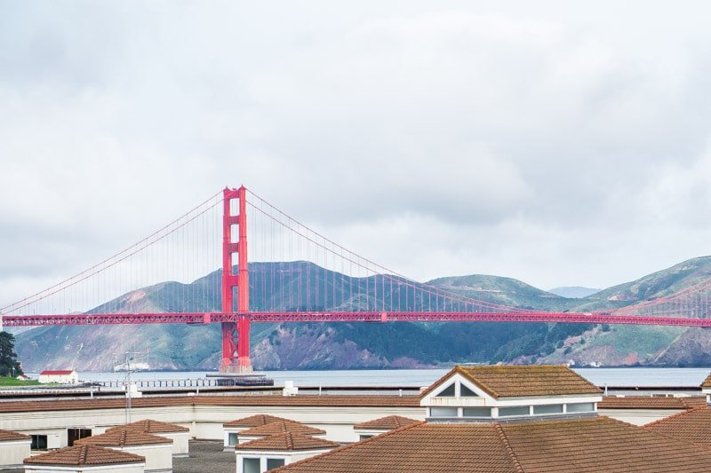 View of the Golden Gate Bridge from the Walt Disney Museum