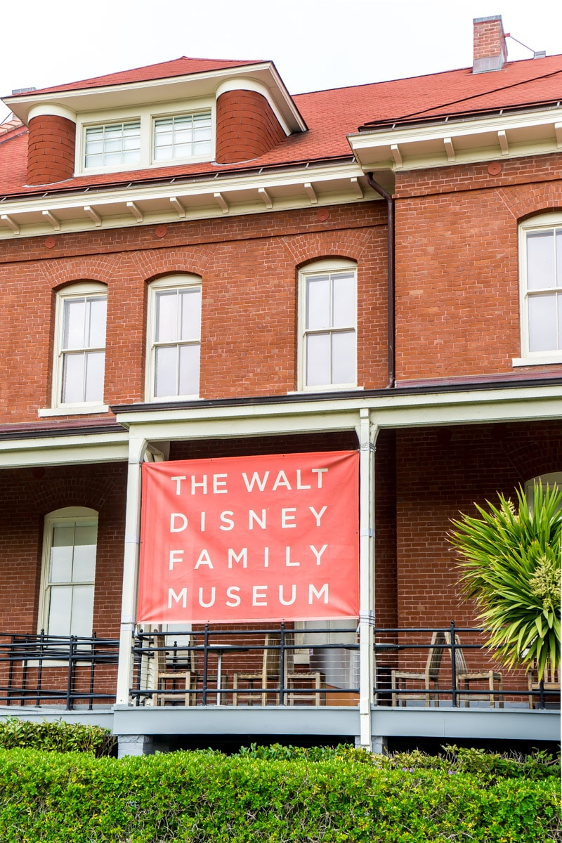 A picture of the front of the Walt Disney Family Museum
