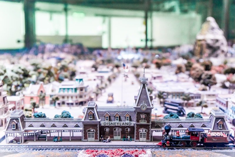 Main Street USA model in the Walt Disney Museum