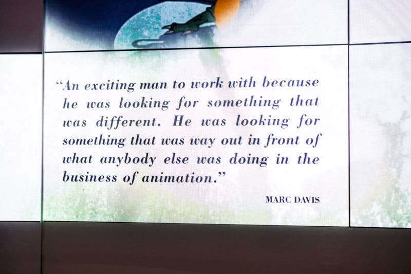 A quote about Walt in the Disney Museum in San Fransisco