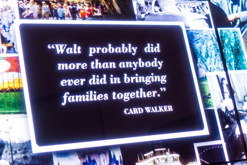 A quote in the Walt Disney Family Museum about families
